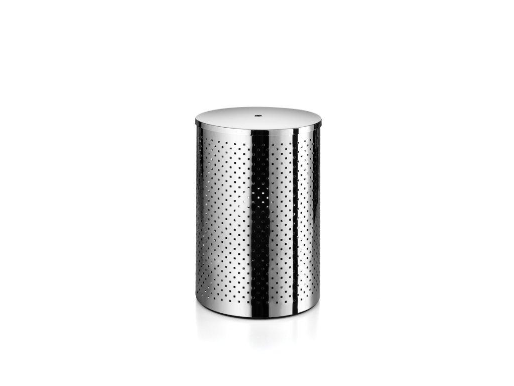 Lineabeta Basket Koš na prádlo s víkem - leštěná nerezová ocel 5353.29.29
