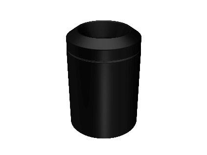 Lineabeta Basket koš 5l černá matná 5355.22