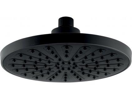 Novaservis Pevná hlavová sprcha, průměr 200 mm, černá RUP/200,5